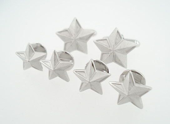 Sterling 3D Star Cufflinks & Stud Set
