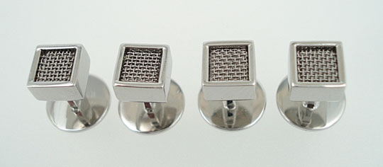 Stainless Steel Mesh 5pc Stud Set