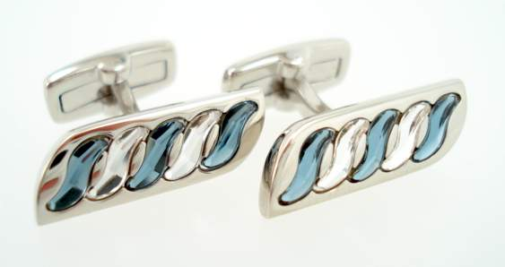 wd london crystal cufflinks