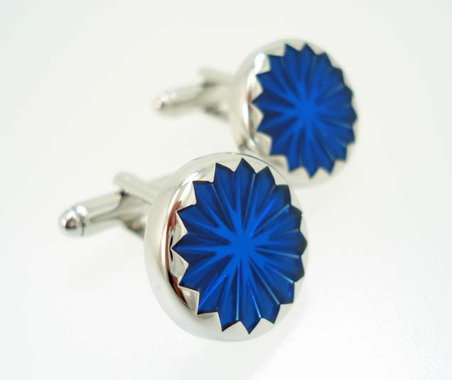 wd london blue star cufflinks