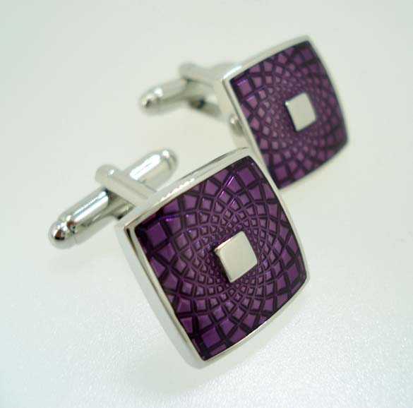 wd london purple cufflinks