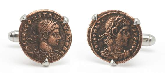 Authentic Roman Coin Cufflinks