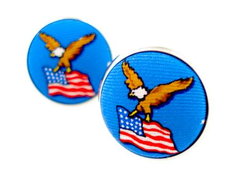 american flag and eagle cufflinks