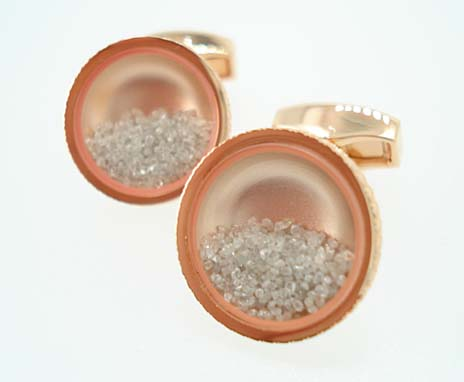 tateossian rose gold cufflinks