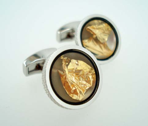tateossian gold cufflinks