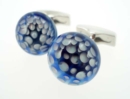 blown glass cufflinks
