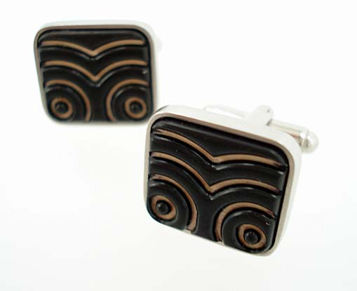 Carved Ebony Bamboo Maori Cufflinks