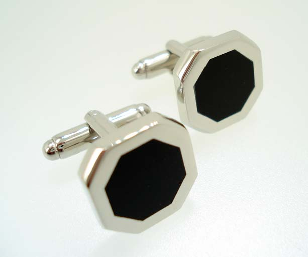 Onyx Hexagon Cufflinks