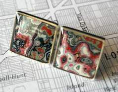graffiti cufflinks