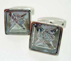 crystal bubble cufflinks