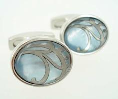 simon carter blue pearl cufflinks