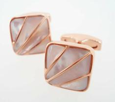 simon carter deco rose gold pearl cufflinks