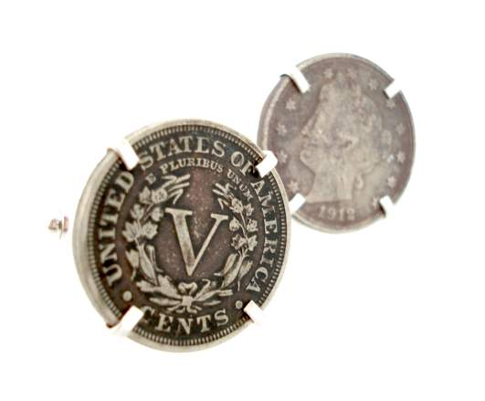 v nickel cufflinks