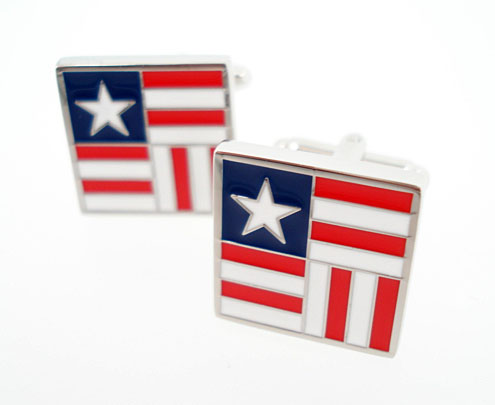 rail fence flag cufflinks
