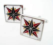 barn star cufflinks