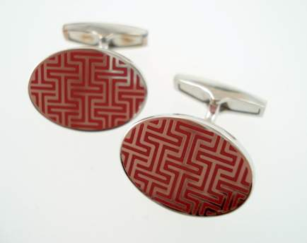timi signature t cufflinks - red oval
