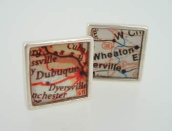 map city cufflinks