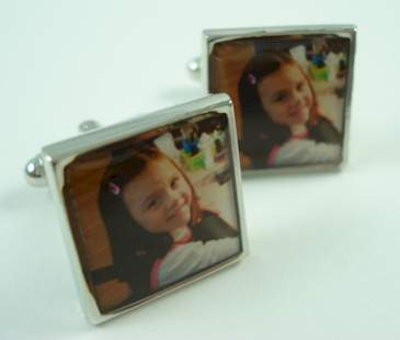 Custom Square Photo Cufflinks