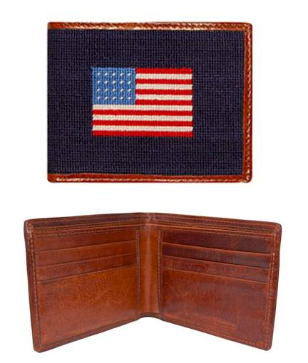 embroidered american flag wallet