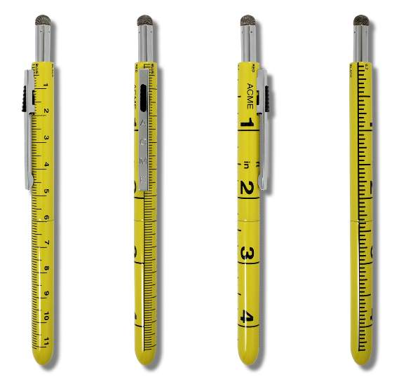 7 function ruler pen
