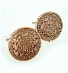 civil war era two cent cufflinks