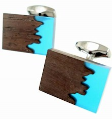 tateossian ebony wood cufflinks