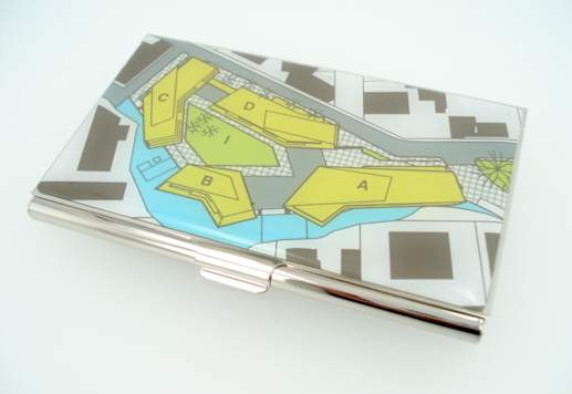 Site Plan Business Card Holder